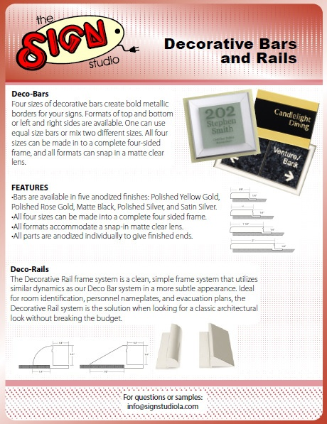 Office Signs Los Angeles | Decorative Bars and Rails