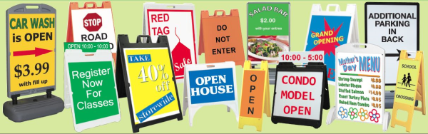 A-Frame Signs for Burbank CA Retailers