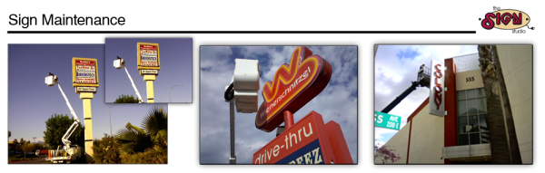 Sign Repairs and Maintenance Los Angeles